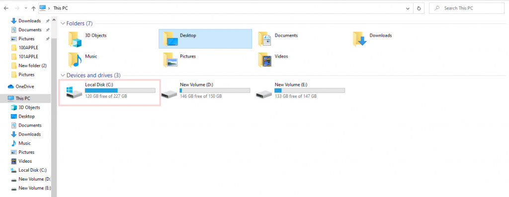desktop drive